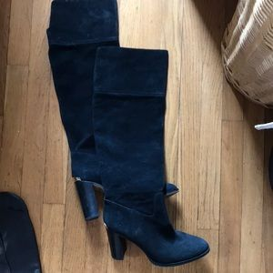 Michael Kors black suede over the knee boot 9.5